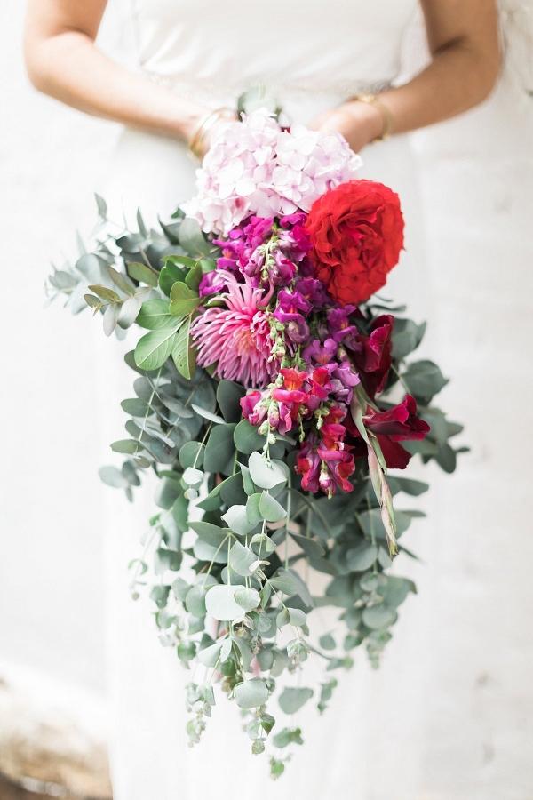Bright Red, Pink & Purple Bouquet