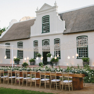 Outdoor Reception at Cape Dutch Homestead