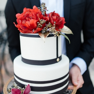 Tuxedo inspired wedding cake