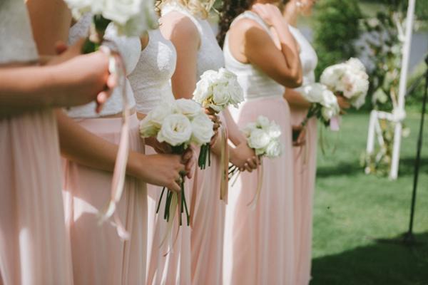 Peach & White Bridesmaid Separates