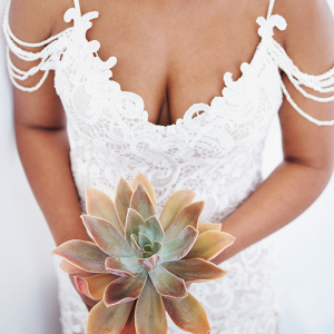 Single Succulent Wedding Bouquet
