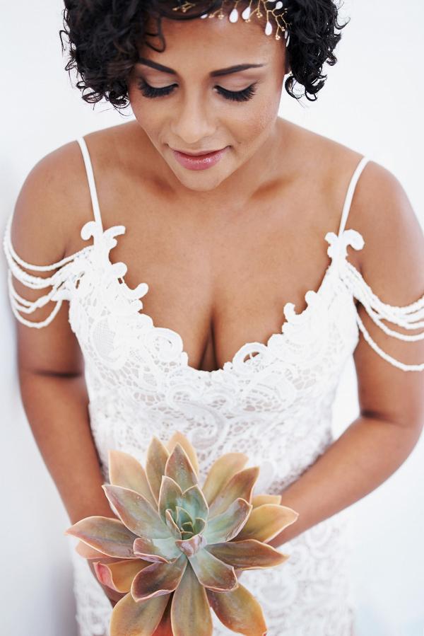 Single Succulent Wedding Bouquet