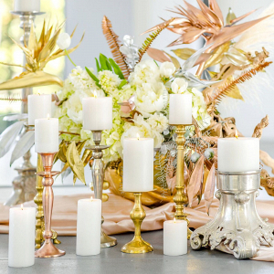 Modern Mixed Metallics Centerpiece
