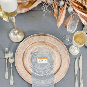 Mixed Metallic Place Setting