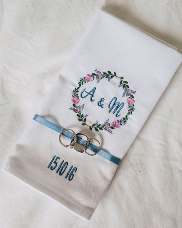 Embroidered Napkin Favors