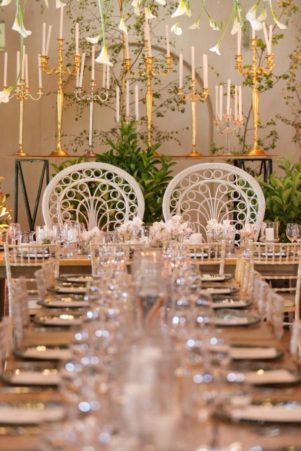 Opulent wedding head table