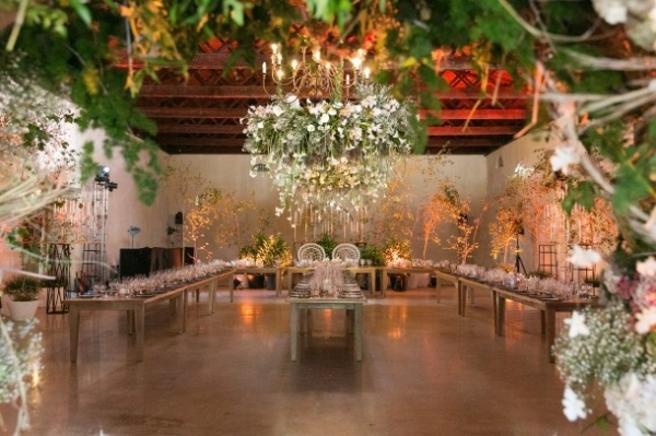 Opulent floral venue decor
