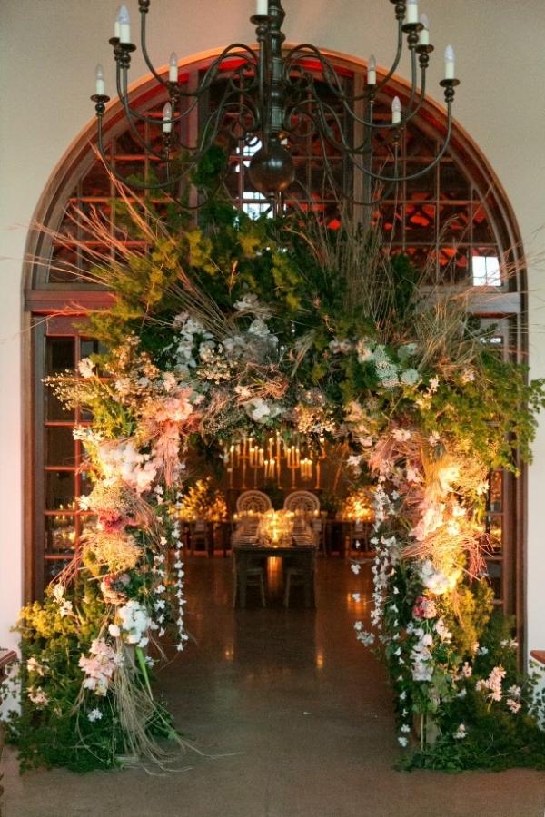 Opulent floral doorway