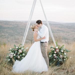 Triangular Wedding Arch