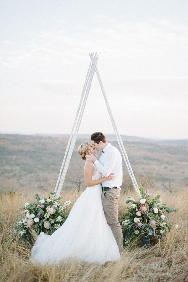 Triangular Wedding Arch
