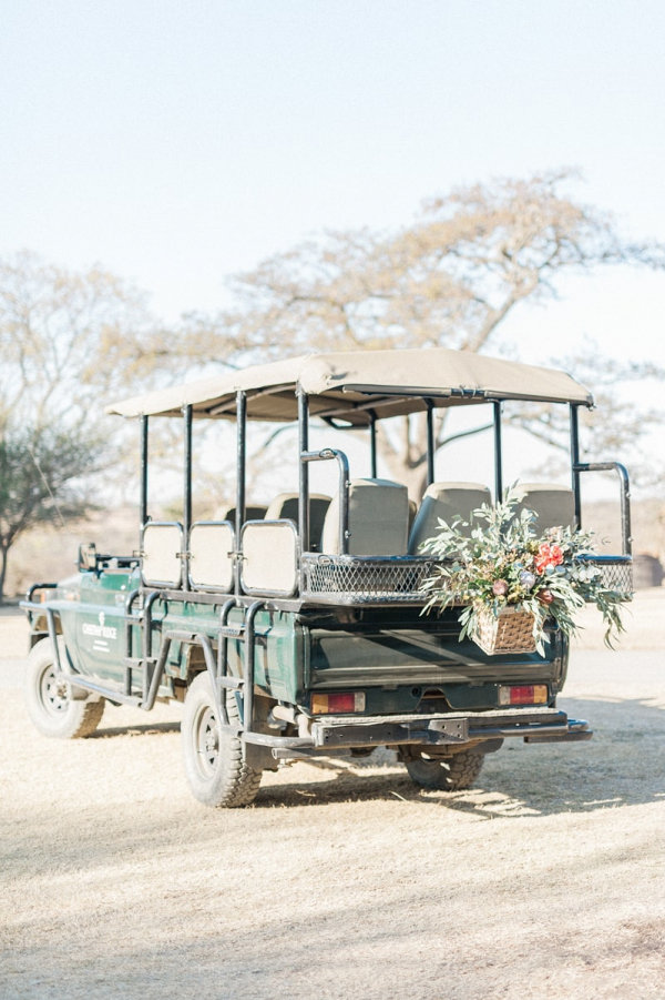 Safari Getaway Vehicle with Floral Decoration