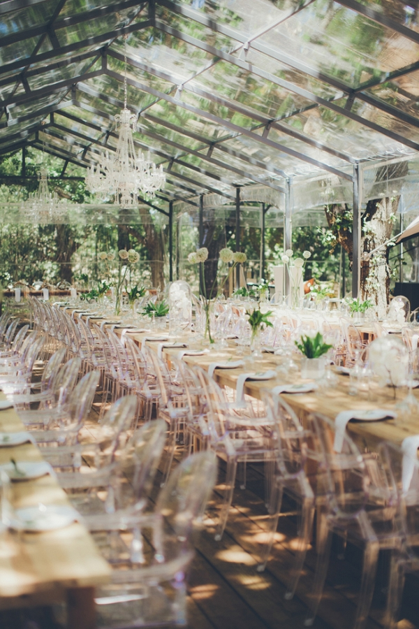 Glass Marquee Reception