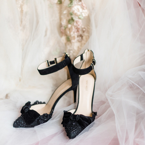 Black Velvet Wedding Shoes