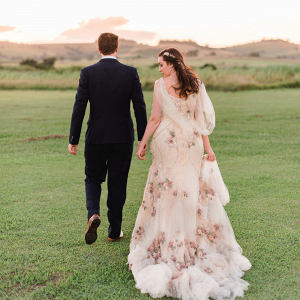 Handmade Floral Wedding Dress