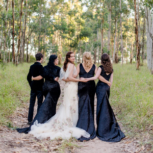Black Velvet Bridesmaid Dresses