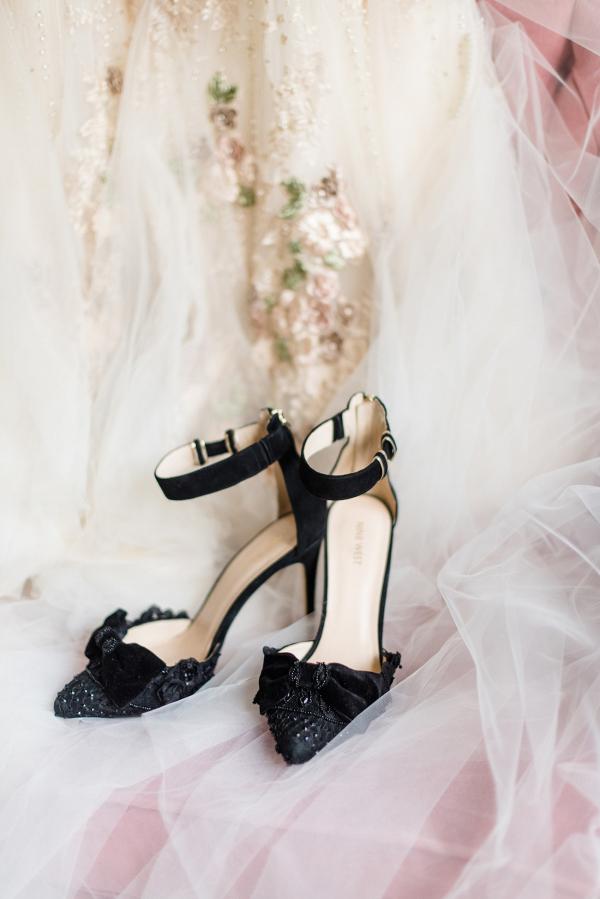 Black Velvet Wedding Shoes