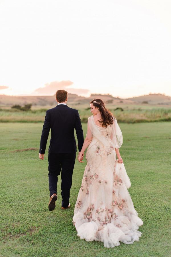 Handmade Floral Wedding Dress