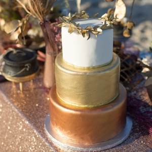 Tiered Metallic Cake