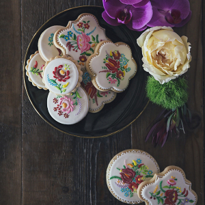 Embroidery Pattern Sugar Cookies
