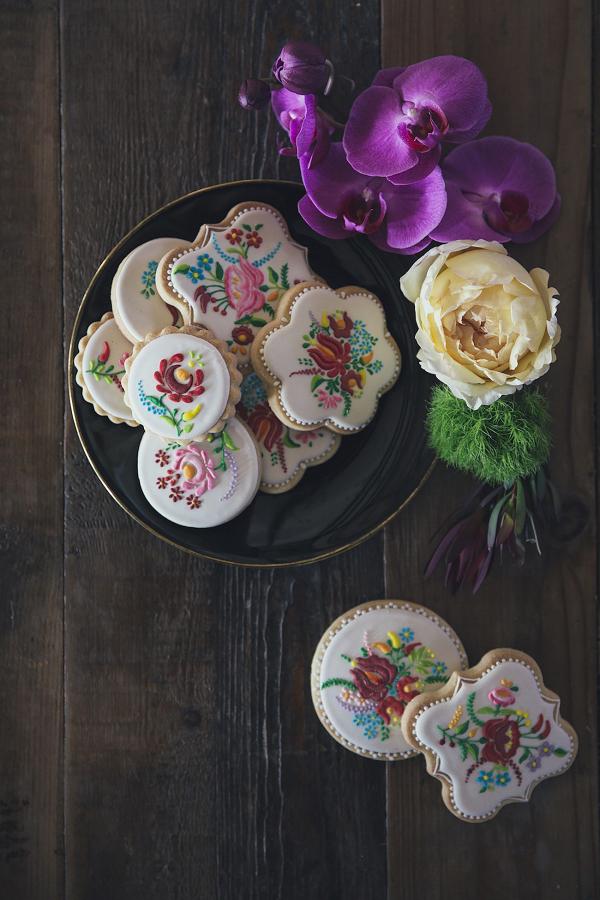 Embroidery Pattern Sugar Cookies