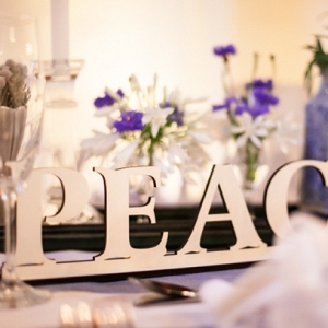 Lasercut Peace Table Name