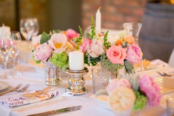Peach & Mint Floral Centerpiece
