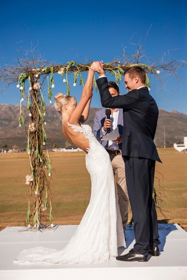 Ceremony with Branch & Tulip Arch