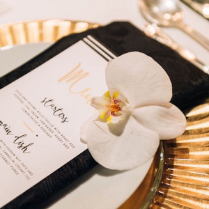 Modern Place Setting with Orchid