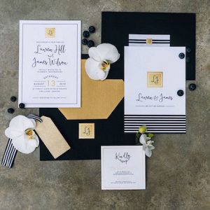 Monochrome Wedding Invitation