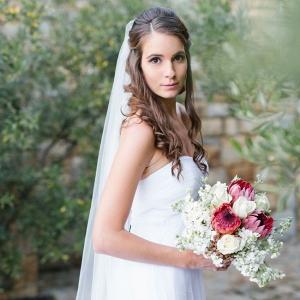 Bride with Protea Bouquet