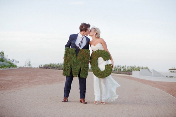 Couple with Moss Monograms