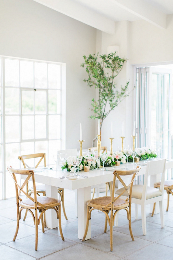 Modern Romantic Wedding Reception