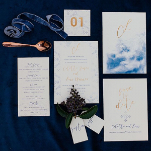 Watercolor Winter Wedding Invitation Suite