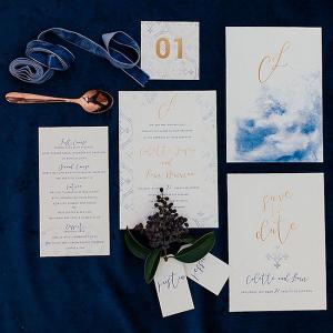 Watercolor Winter Wedding Invitation Suite