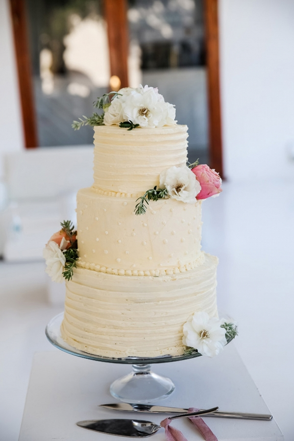 Buttercream Cake with Swiss Dot Detail