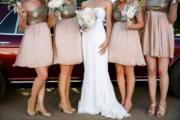 Sequin Bodice Bridesmaid Gowns