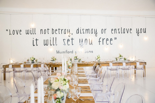 Mumford & Sons Lyric Wall Decal
