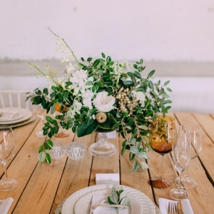 Glamorous wedding floral centerpiece