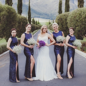 Navy Sequin Bridesmaid Dresses