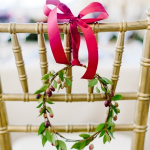Wreath Chair Decoration