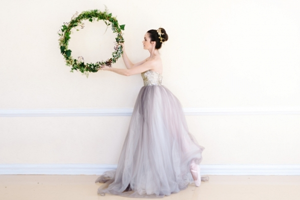 Ballerina Bride with Wreath