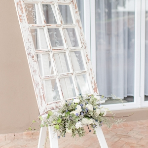 Rustic Window Pane Table Plan
