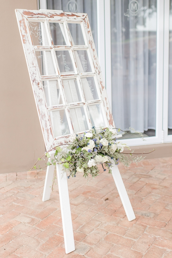 Rustic Window Pane Table Plan