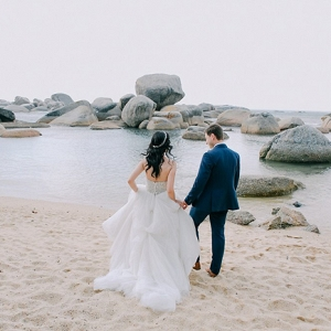 Beach Bride & Groom
