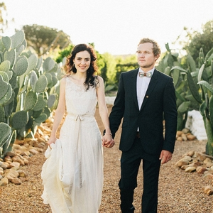 Bride & Groom in Babylonstoren Gardens
