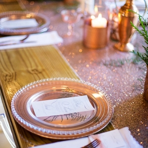 Place Setting with Copper Details