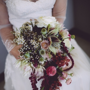 Botanical jewel tone bouquet