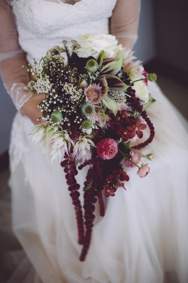 Botanical jewel tone bouquet
