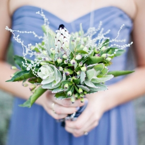 Pantone Serenity bridesmaid dress