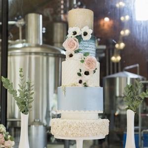 Tall Pastel Wedding Cake